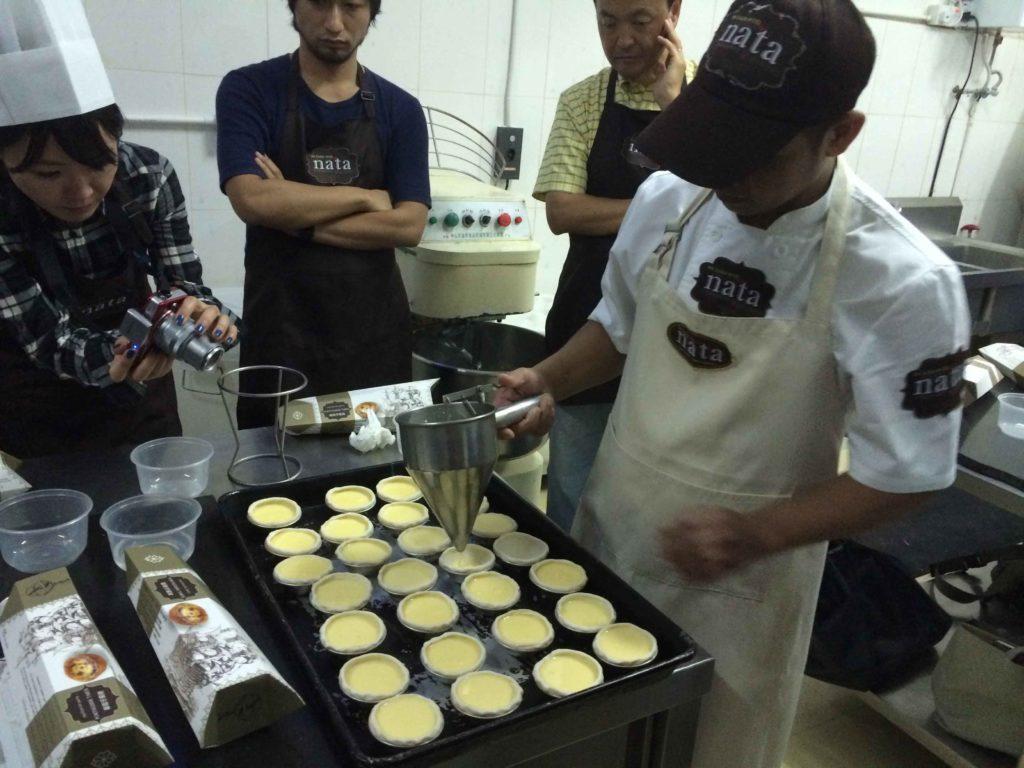Macau Egg tart cooking class