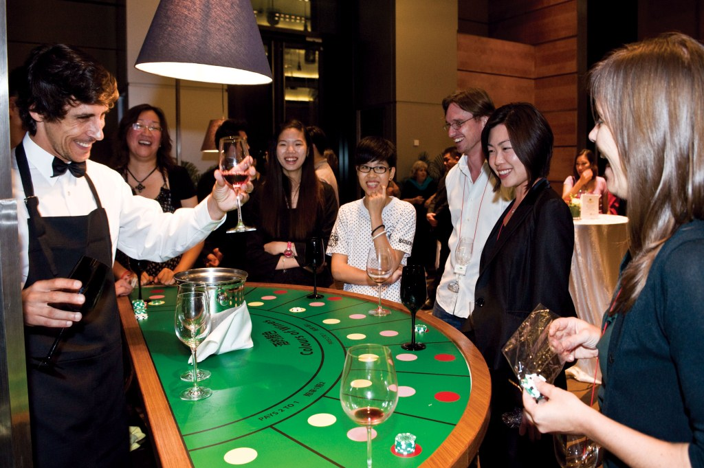 casino themed event wine and gourmet