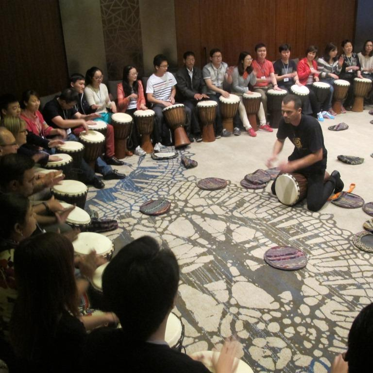 drum games; team builder